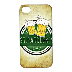Irish St Patrick S Day Ireland Beer Apple Iphone 4/4s Hardshell Case With Stand by Simbadda