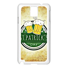 Irish St Patrick S Day Ireland Beer Samsung Galaxy Note 3 N9005 Case (white) by Simbadda