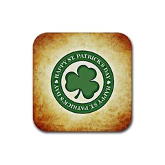 Irish St Patrick S Day Ireland Rubber Square Coaster (4 Pack)  by Simbadda