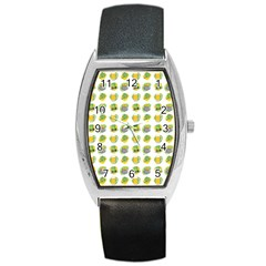 St Patrick S Day Background Symbols Barrel Style Metal Watch by Simbadda