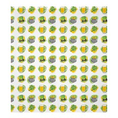 St Patrick S Day Background Symbols Shower Curtain 66  X 72  (large)