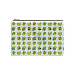 St Patrick S Day Background Symbols Cosmetic Bag (medium)  by Simbadda