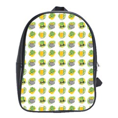 St Patrick S Day Background Symbols School Bags(large)  by Simbadda
