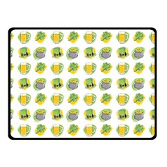 St Patrick S Day Background Symbols Fleece Blanket (small) by Simbadda