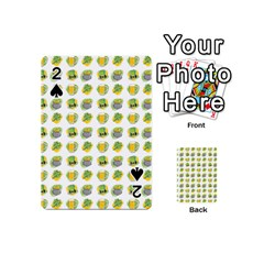 St Patrick S Day Background Symbols Playing Cards 54 (mini)