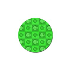 Fabric Shamrocks Clovers Golf Ball Marker (10 Pack) by Simbadda