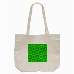 Fabric Shamrocks Clovers Tote Bag (cream) by Simbadda
