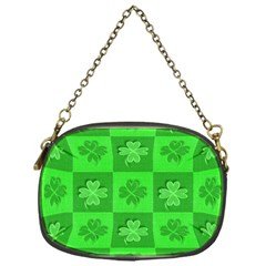 Fabric Shamrocks Clovers Chain Purses (one Side)