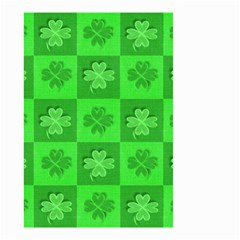 Fabric Shamrocks Clovers Small Garden Flag (two Sides) by Simbadda