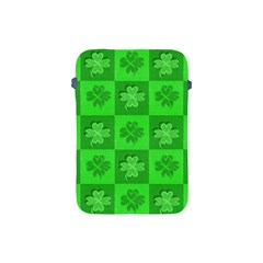 Fabric Shamrocks Clovers Apple Ipad Mini Protective Soft Cases by Simbadda