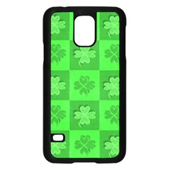 Fabric Shamrocks Clovers Samsung Galaxy S5 Case (black) by Simbadda