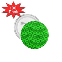 Shamrocks 3d Fabric 4 Leaf Clover 1 75  Buttons (100 Pack)  by Simbadda
