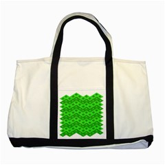 Shamrocks 3d Fabric 4 Leaf Clover Two Tone Tote Bag by Simbadda