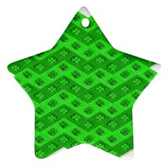 Shamrocks 3d Fabric 4 Leaf Clover Star Ornament (two Sides) by Simbadda