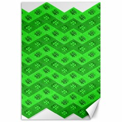 Shamrocks 3d Fabric 4 Leaf Clover Canvas 24  X 36  by Simbadda