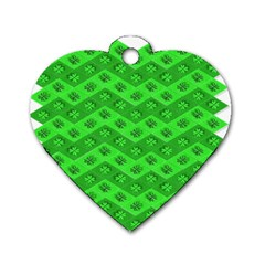 Shamrocks 3d Fabric 4 Leaf Clover Dog Tag Heart (one Side) by Simbadda