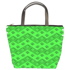 Shamrocks 3d Fabric 4 Leaf Clover Bucket Bags by Simbadda