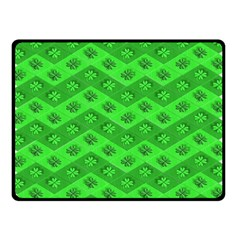 Shamrocks 3d Fabric 4 Leaf Clover Fleece Blanket (small) by Simbadda