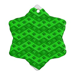 Shamrocks 3d Fabric 4 Leaf Clover Snowflake Ornament (two Sides) by Simbadda