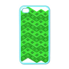 Shamrocks 3d Fabric 4 Leaf Clover Apple Iphone 4 Case (color) by Simbadda