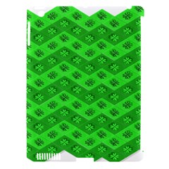 Shamrocks 3d Fabric 4 Leaf Clover Apple Ipad 3/4 Hardshell Case (compatible With Smart Cover) by Simbadda