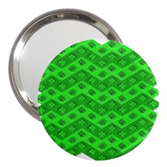 Shamrocks 3d Fabric 4 Leaf Clover 3  Handbag Mirrors