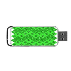 Shamrocks 3d Fabric 4 Leaf Clover Portable Usb Flash (two Sides) by Simbadda