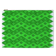 Shamrocks 3d Fabric 4 Leaf Clover Cosmetic Bag (xxl)  by Simbadda