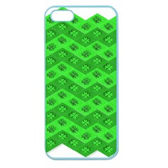 Shamrocks 3d Fabric 4 Leaf Clover Apple Seamless Iphone 5 Case (color) by Simbadda