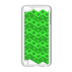 Shamrocks 3d Fabric 4 Leaf Clover Apple Ipod Touch 5 Case (white) by Simbadda