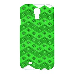 Shamrocks 3d Fabric 4 Leaf Clover Samsung Galaxy S4 I9500/i9505 Hardshell Case by Simbadda