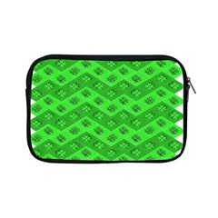 Shamrocks 3d Fabric 4 Leaf Clover Apple Ipad Mini Zipper Cases by Simbadda