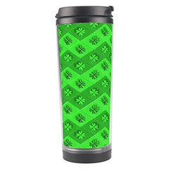 Shamrocks 3d Fabric 4 Leaf Clover Travel Tumbler by Simbadda