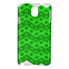 Shamrocks 3d Fabric 4 Leaf Clover Samsung Galaxy Note 3 N9005 Hardshell Case by Simbadda