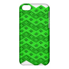 Shamrocks 3d Fabric 4 Leaf Clover Apple Iphone 5c Hardshell Case by Simbadda