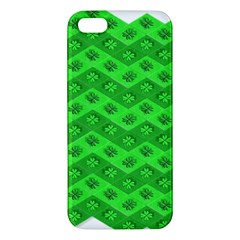 Shamrocks 3d Fabric 4 Leaf Clover Iphone 5s/ Se Premium Hardshell Case by Simbadda