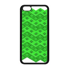 Shamrocks 3d Fabric 4 Leaf Clover Apple Iphone 5c Seamless Case (black) by Simbadda