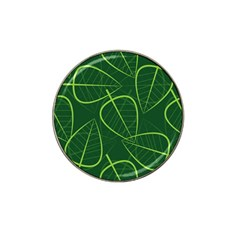 Vector Seamless Green Leaf Pattern Hat Clip Ball Marker (4 Pack) by Simbadda