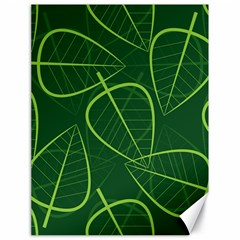 Vector Seamless Green Leaf Pattern Canvas 18  X 24   by Simbadda