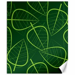 Vector Seamless Green Leaf Pattern Canvas 20  X 24   by Simbadda