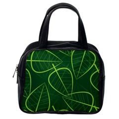 Vector Seamless Green Leaf Pattern Classic Handbags (one Side) by Simbadda