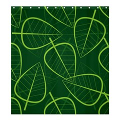Vector Seamless Green Leaf Pattern Shower Curtain 66  X 72  (large)  by Simbadda