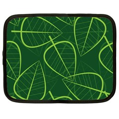 Vector Seamless Green Leaf Pattern Netbook Case (xxl)