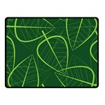 Vector Seamless Green Leaf Pattern Fleece Blanket (Small) 50 x40  Blanket Front