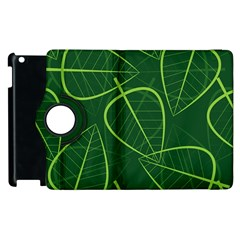 Vector Seamless Green Leaf Pattern Apple Ipad 3/4 Flip 360 Case by Simbadda
