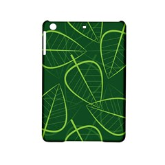 Vector Seamless Green Leaf Pattern Ipad Mini 2 Hardshell Cases by Simbadda