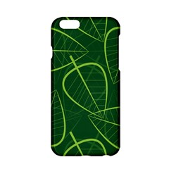 Vector Seamless Green Leaf Pattern Apple Iphone 6/6s Hardshell Case by Simbadda