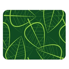Vector Seamless Green Leaf Pattern Double Sided Flano Blanket (large)  by Simbadda