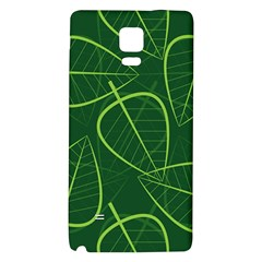 Vector Seamless Green Leaf Pattern Galaxy Note 4 Back Case by Simbadda