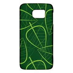 Vector Seamless Green Leaf Pattern Galaxy S6
